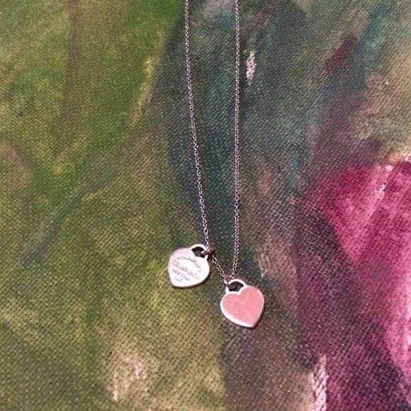 Tiffany small double heart necklace